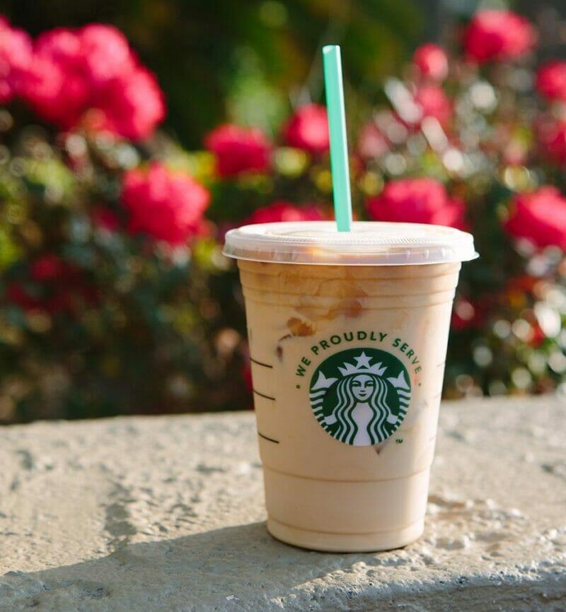 Starbucks drink with straw