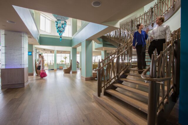 Tides-folly-beach-hotel-Lobby-Staircase