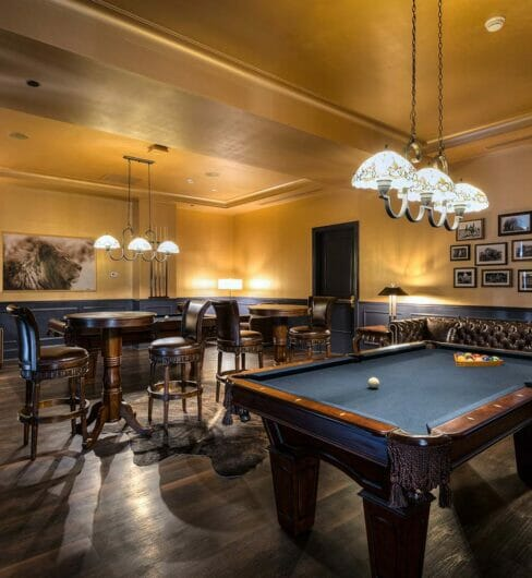 billards bar room with games and tall bar tables